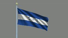 Flag of Honduras Stock Footage