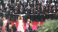 Red carpet 1 Stock Footage