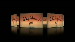 Audio Meters 435 - Spin Stock Footage