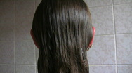 Washing Her Hair Stock Footage