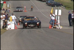 Motorsports, auto racing,  hillclimb AC Cobra Stock Footage