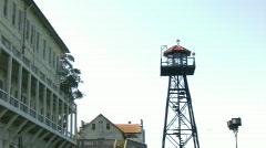 Pan of Alcatraz Entrance Stock Footage
