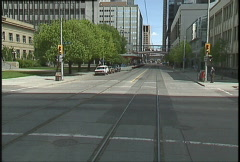 Ride aboard Light Rail Transit train, #2 Stock Footage