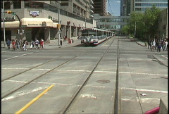 Ride aboard Light Rail Transit train, #1 Stock Footage