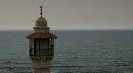 Stock Video Footage of mosque & sea