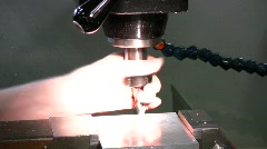 Milling cutter in action Stock Footage