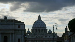 Saint Peter Bailica, Rome Stock Footage