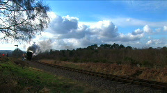 Steam in the countryside Stock Footage