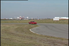 Motorsports, roadcourse racing exotic cars Ferrari Testarosa Stock Footage