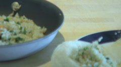Fried rice and tortilla ver 3 Stock Footage