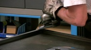 Stock Video Footage of Angle grinder in action