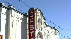 Pan Down Castro Street San Fransisco Stock Footage