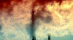 Industrial smoke 2 Stock Footage
