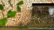 Modern fountain in the lake Stock Footage