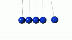 Newton's Cradle. Loop. CG. HD. - stock footage