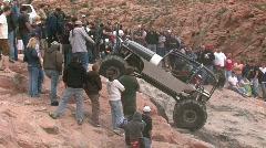 Rock crawling big wheels Moab UT M HD Stock Footage