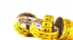 Measuring tape, HD 720 - stock footage