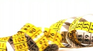 Measuring tape, HD 720 Stock Footage