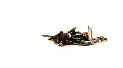 screws, isolated on white, HD 720 - stock footage