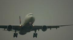 HD720p Passenger jetliner landing in airport. Amsterdam. Stock Footage
