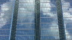 Office windows reflect steam. Stock Footage