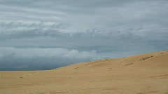 Sand Dune Time Lapse - Cloudy Day, Beach, Desert Stock Footage