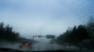 Rainy drive 2 Stock Footage
