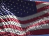 American Flag Waving  Stock Footage