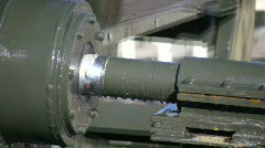 Closeup of a metal shaft as it turns (High Definition) Stock Footage