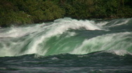 Close-up of water falling over the edge at Niagara Falls Stock Footage
