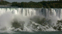 Beautiful scenic of Niagara Falls from Canadian side (High Definition) Stock Footage