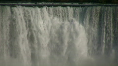 Close-up of water falling over the edge at Niagara Falls - stock footage