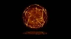 Golden Lines Sphere Stock Footage