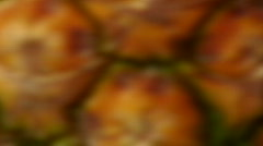 Pinapples and cherries macro shot Stock Footage