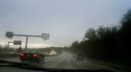 Rainy drive 3 Stock Footage