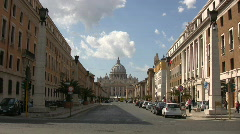 Zoom in to Vatican City - stock footage