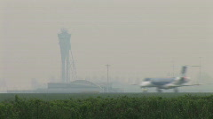 HD1080i AMSTERDAM - APR 12, 2009: bmi Airplanes takes off at Schiphol Airport Stock Footage