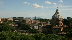 Rome skyline Stock Footage