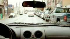 Driving 446 - Small Town Stock Footage
