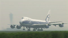 HD1080i AMSTERDAM - APR 12, 2009: AirBridgeCargo Airplanes takes off at Schiphol - stock footage