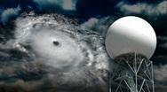 Doppler Radar 447 - Hurricane Stock Footage