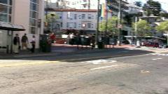 Pan of Castro Street San Fransisco Stock Footage