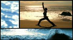 Yoga montage animated - HD  - stock footage