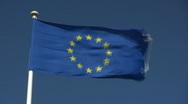 European flag Stock Footage