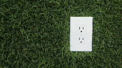 Electrical Outlet, dolly Stock Footage