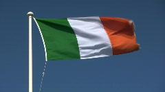 Irish flag Stock Footage