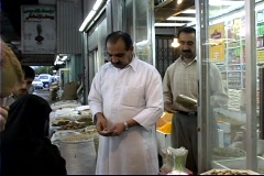 Qatar Shopkeeper Stock Footage