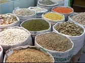Stock Video Footage of Qatar Market Grains