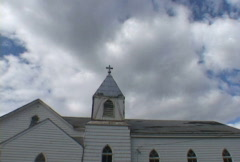 Wide Church Time Lapse Stock Footage