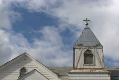 Close Church Time Lapse Stock Footage